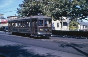 Trolley Slide - Union Street Railway #501 Streetcar New Bedford MA 1941 Vintage