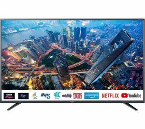 "Sharp 50"" Inch Smart 4K Ultra HD HDR UHD LED TV - Freeview Play - Netflix - HDMI"