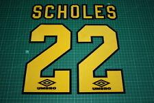 Manchester United 94/97 #22 SCHOLES 3rd AwayKit Nameset Printing