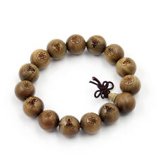 Buddha Word Sandalwood Beads Tibet Buddhist Prayer Beads Mala Bracelet