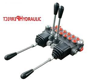 6 Spool Hydraulic Directional Control Valve 2x JOYSTICK 21gpm 80L 6x Double 6xDA