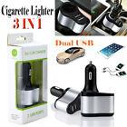 VODOOL 12/24V Dual USB Car Charger Adapter with Cigarette Lighter Socket Plug