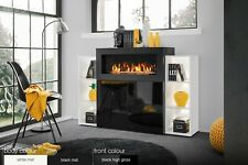 Unit with Fireplace Highboard Display High Gloss Furniture CAMINO SB Free PP Led
