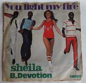 "SHEILA B. DEVOTION You light my fire 7"" SINGLE VINYL Germany 1978 2044121 Carrer"