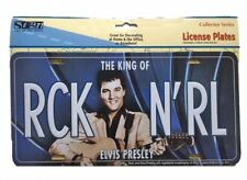 OFFICIAL ELVIS PRESLEY THE KING ROCK N' ROLL METAL DECORATIVE LICENSE PLATE