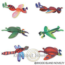 """Dozen 8"""" Insect Gliders Bulk Toy Play Vending Carnival Prize Game"""