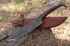 """CUSTOM HANDMADE CARBON STEEL 12"""" HUNTING KNIFE, SKINNER KNIFE,TACTICAL KNIFE,EDC"""