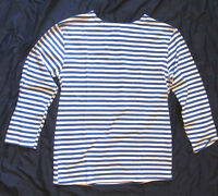 Russia USSR Military VDV Blue White T-Shirt Telnyashka Long Sleeve