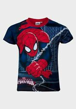 Boys Spider Man Short Sleeves T Shirt Top Age 3 Years to 8 Years (961613) Navy Blue 7a Years