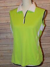 NVO Golf Polo Top Shirt Sleeveless 1/4 Zip Front Pull Womens Sz M