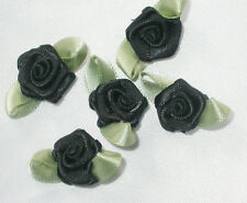 Polyester Satin Ribbon Roses 25 Pack - Lots of colors! USA SELLER