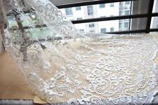 Guipure Embroidery Lace Fabric DIY Bridal Wedding Dress Curtain Material 1 Yard