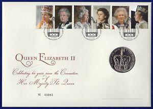 Great Britain, 2013 BU £5 Coin Cover, Coronation 60th Anniversary (Ref. t4203)