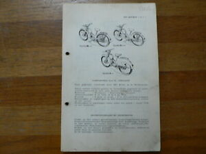 NSU QUICKLY N, S & L 1953 ONWARDS SERVICE AND REPAIR GUIDE AND PARTS LIST MOPED
