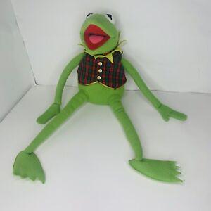 """Vintage Eden Macy's Kermit The Frog Muppets Plush Plaid Vest & Bow Tie 24"""""""