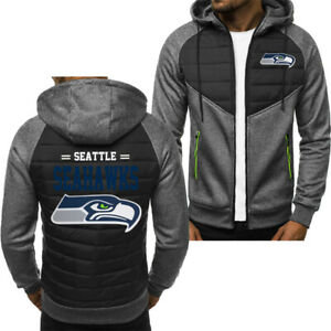 Seattle Seahawks Hoodie Classic Autumn Hooded Sweatshirt Jacket Coat Top Tops