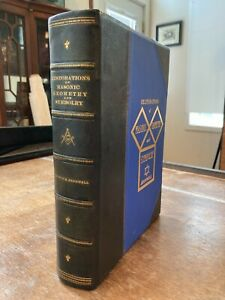 RESTORATIONS OF MASONIC GEOMETRY AND SYMBOLRY by HENRY H.P. BROMWELL 3/4 LEATHER
