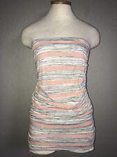 acaaa595202d Stitch Fix Loveappella Gray Stripe Tube Top Long Knit Tank Size S