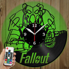 LED Vinyl Clock FallOut LED Wall Art Decor Clock Original Gift 5328