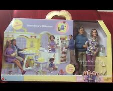 Grandma's Kitchen Grandparents Gift Set Happy Family Barbie Doll Grandpa Grandma
