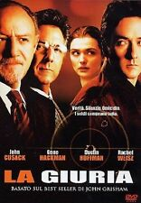 cofanetto+DVD Nuovo film La Giuria Cusak Hackman Weisz Hoffman Grisham