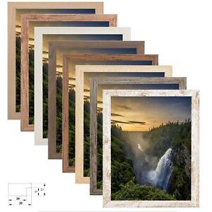 Bilderrahmen Alin MDF Holz Foto Poster Urkunde Rahmen 8 Holzfarben Viele Größen