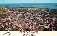 An Aerial View of Detroit Lakes MN