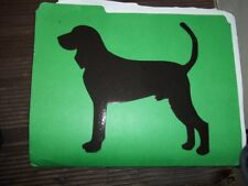 Black & Tan Coonhound #1 Car Magnet Hand Cut and Painted You pick style color
