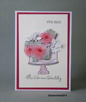 Glückwunschkarte zum  50 Geburtstag Mutter Oma Freundin Gruß Karten Handarbeit