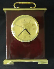 Mantle Clock Lawrence Tech University Gold Plated Brass / Piano Wood