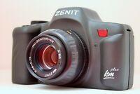 ZENIT KM Plus SLR Motor drive Film Camera Kit MC Zenitar K2 f2/50 (Pentax-K)