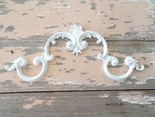 SHABBY n CHIC ARCHITECTURAL LARGE CREST FURNITURE APPLIQUES