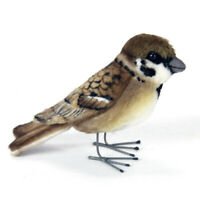 Tree Sparrow Bird Hansa Realistic Soft Animal Plush Toy 7cm **FREE DELIVERY**