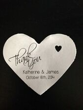 PERSONALIZED Heart Shape Wedding Favor Gift Thank You Tags