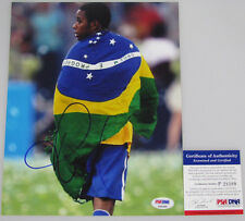 ROBINHO Brazil Superstar Hand Signed 8'x10' Photo + PSA DNA COA P28399