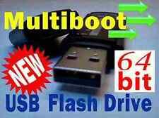 64bit Multi Boot USB Flash Drive. Bootable Linux Mint,Ubuntu,Fedora,OpenSuse +