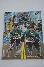 San Jose Sharks Program Magazine Season Shawn Burr & Bill Houlder Autograph
