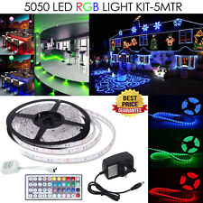 5 m RGB DEL Bande 5050 USB Multi-color Light TV Rétroéclairage Changing Remote Kit 12 V