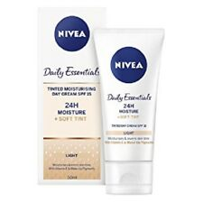 2 x NIVEA VISAGE MOISTURISING TINTED DAY CREAM 50ml NEW