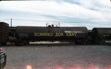 1984 UTLX Olin Chemicals Tank Car  Cajone Pass ORIGINAL 35MM SLIDE