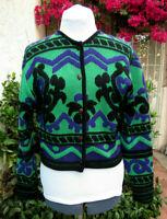 VTG Kansai Yamamoto coatigan so Kenzo wool mix knit jacket cardigan sweater M