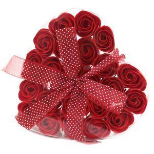 Luxury Soap Flower Heart Box Set Red Roses Gift box