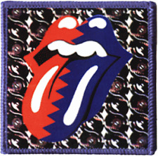ROLLING STONES Patch Toppa Red&Blue OFFICIAL MERCHANDISE