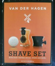 Van Der Hagen Boar Shave Set - Soap Brush & Mug NEW Free Shipping