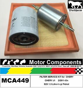 FILTER KIT Oil Air Fuel for CHERY J1 S2X 1.3L Petrol 2/2011-On