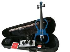 Zest 4/4 étudiant/école Electric Silent Violin Bleu Grade B