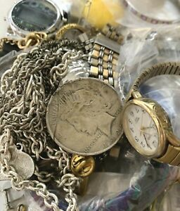 Mini-Junk Drawer with Jewelry, 90% Silver Peace Dollar & More SEE BELOW  01-67