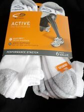 6 Pair Extra Large Champion King Size Active Performance No Show Socks 12-14