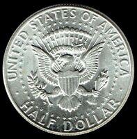 """A """"Beautiful"""" 1964 D Kennedy Half Dollar 90% SILVER """"Brilliant Uncirculated"""""""