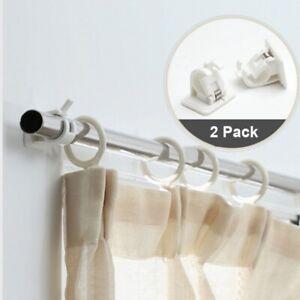 2 pièces auto-adhésif pour rideau suspendu supports de salle de bain porte-servi